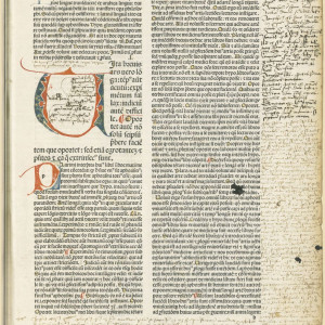 12. Hippocrates' 'Aphorisms' with Galen's commentary in an edition of the 'Articella' by Francesc Argilagues, with annotations of use (Venice, Hermann Liechtenstein, 1483).