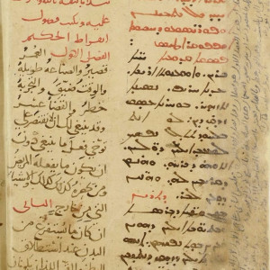 3. Manuscript with the Syriac (right col.) and Arabic (left col.) translations by Ḥunayn ibn Isḥāq, known in the West as Johannitius, of Hippocrates' 'Aphorisms' (Paris, Bibliothèque nationale de France, MS Arabe 6734, f. 29v, 1205).