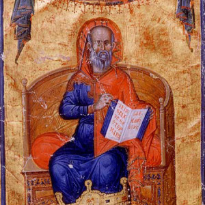 2. Hippocrates, in a Byzantine compilation of works attributed to him (Paris, Bibliothèque nationale de France, MS Grec 2144, f. 10v, Constantinople, c. 1335-1345).
